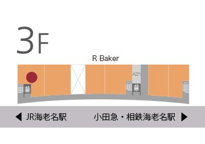 R Baker地図